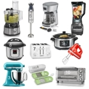 collage of 11 small kitchen appliances