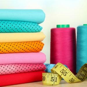Cotton fabrics close up