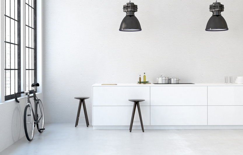 empty apartment kitchen