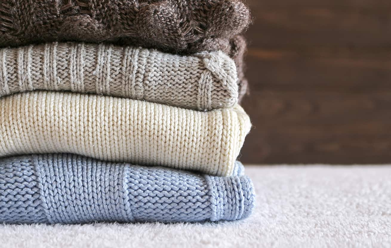sweaters in a stack