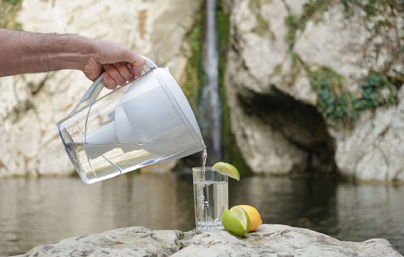 water in filter pitcher