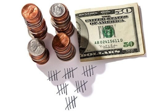 tracking counting money coins currency
