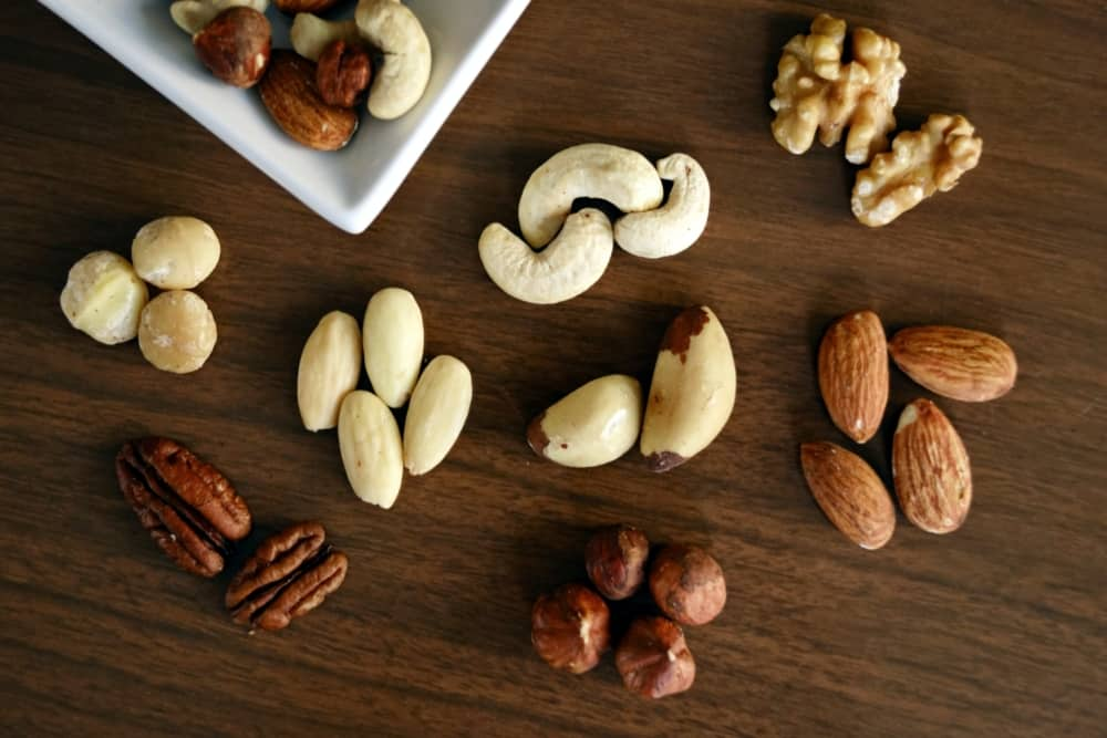 table full of nuts