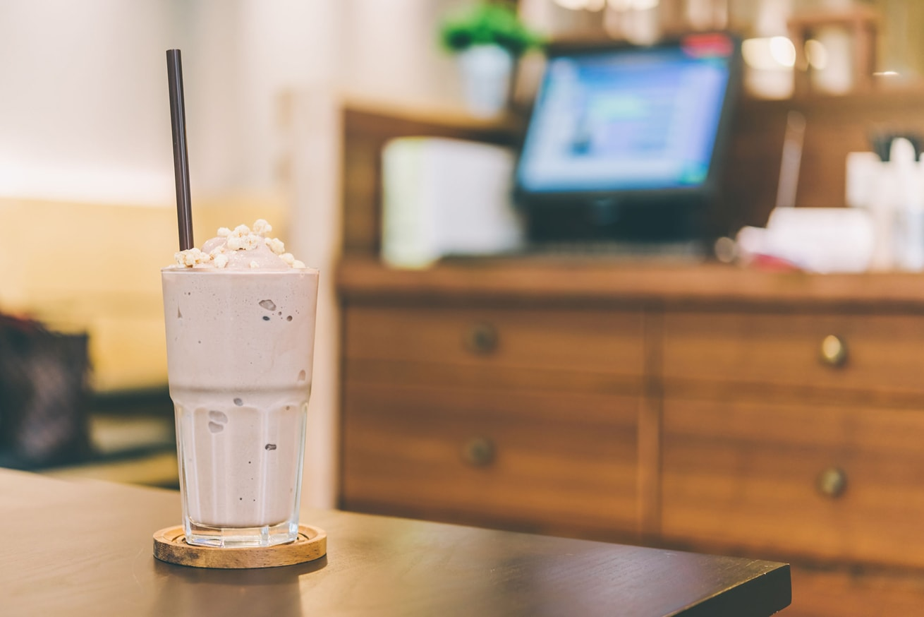 milkshake on table