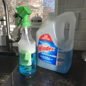 big jug Windex and spray bottle